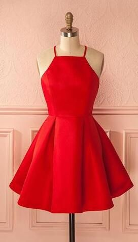 Little red dress | All dolled up | Pinterest | Short prom dresses ...