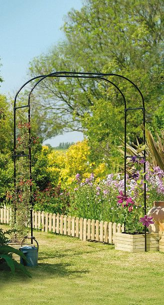 Pergola Adossa C E En Fer Arche Jardin Amenagement Jardin Et