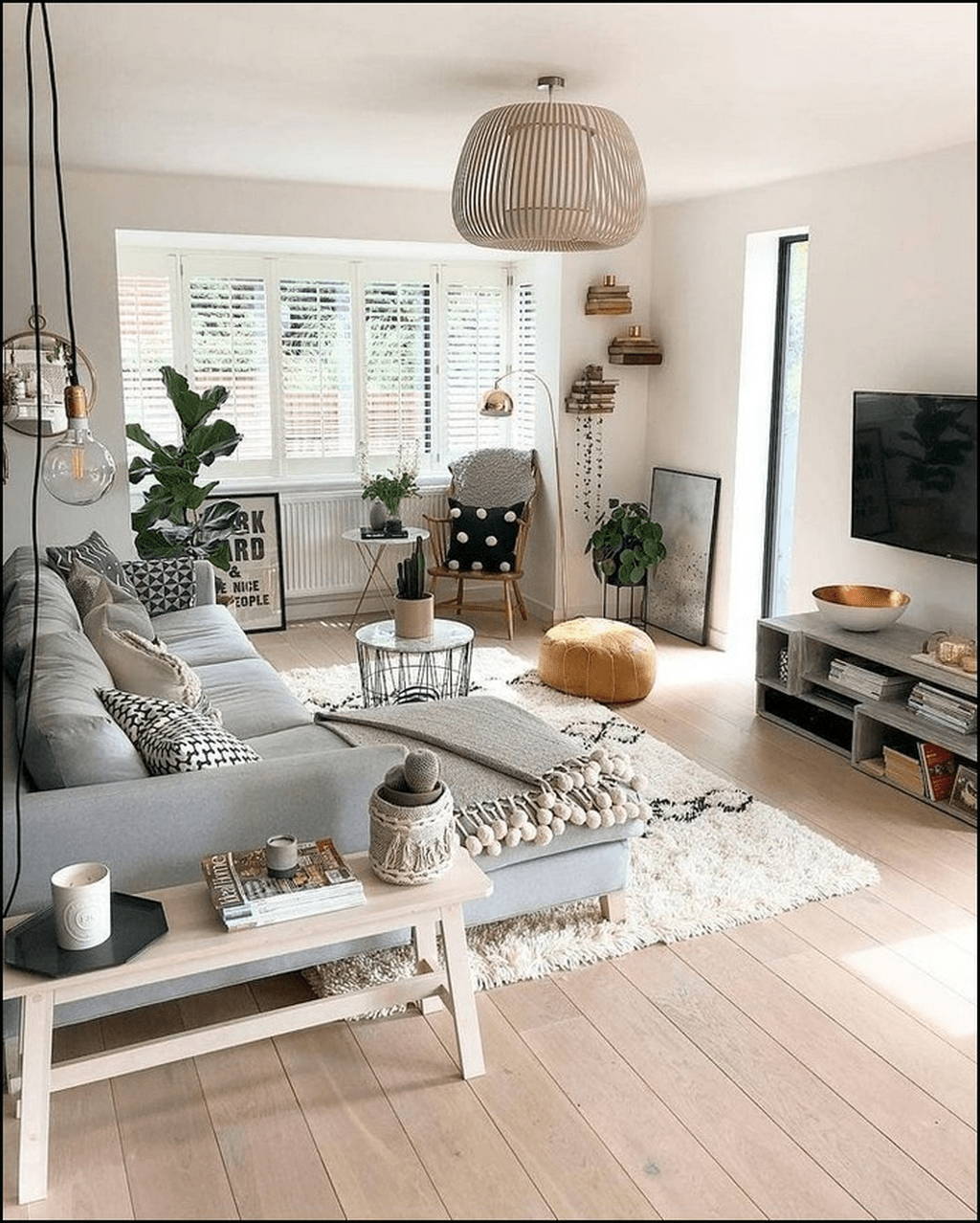 Inspiring Modern Apartment Living Room Decoration Ideas 25 In 2020 Living Room Scandinavian Living Room Decor Apartment Farmhouse Style Living Room