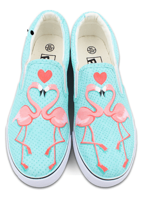 Vans Pink Flamingo Slip Ons | Slip on, Slip on sneakers