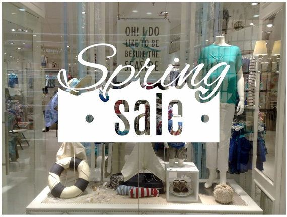 Spring sale shop window decal easy to paste or remove shop window display ask us for custom decals by cutnpasteshop
