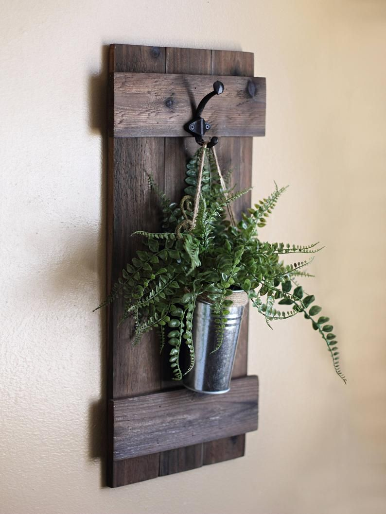 hanging wall planter rustic wall decor indoor wooden on easy diy woodworking projects to decor your home kinds of wooden planters id=41867