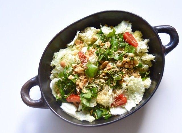 vite fait bien fait salade de chou chinois au s same et la coriandre chou chinois salade. Black Bedroom Furniture Sets. Home Design Ideas