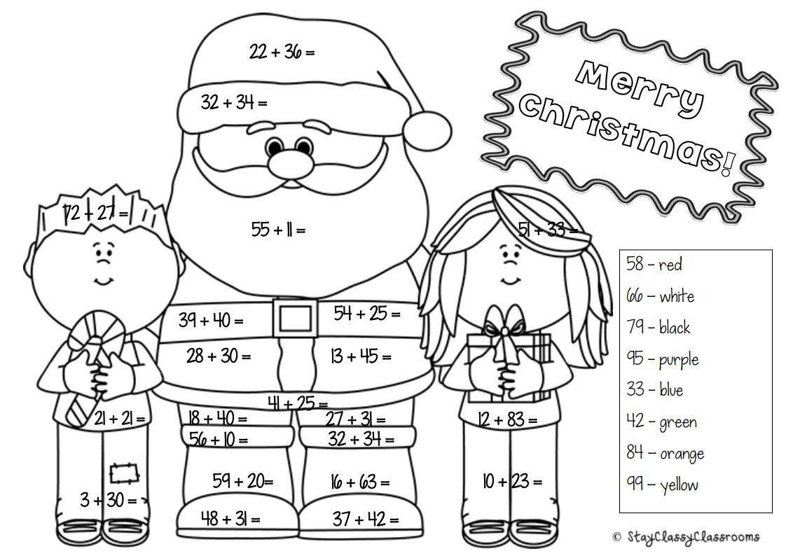 Christmas Math Worksheets For Kindergarten Christmas Math Activities Christmas Math Worksheets Christmas Math Printables Christmas Math