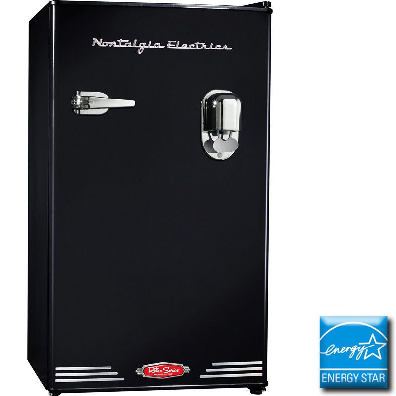 Mini Fridge & Freezer w/ Beverage Dispensing Cooler ~ Compact Retro Refrigerator #NostalgiaElectrics