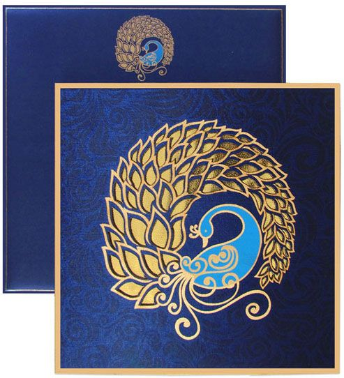 regalcards Invite in Style This splendid Peacock theme – Wedding Cards Indian Style