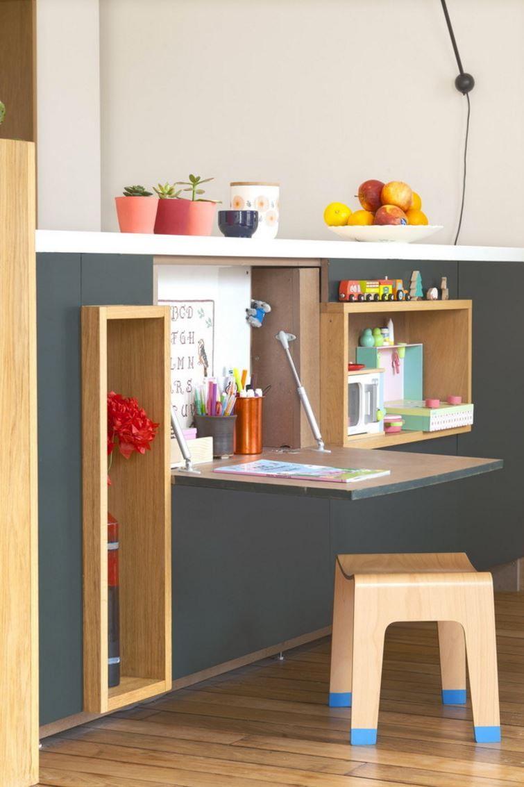 20 Space Saving Fold Down Desks To Maximize Productivity Fold Down Desk Scandinavian Kids Rooms Kids Room Design