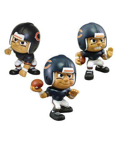 This Chicago Bears Lil' Teammate Figurine Set is perfect! #zulilyfinds