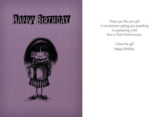 050 Happy Birthday Third World Country Bald Guy Greetings Card