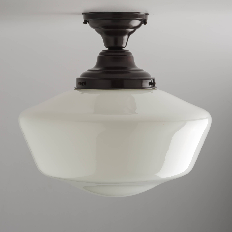 16 Schoolhouse Style Lighting Fixture Milk White Glass Etsy Glass Light Fixture Light Fixtures White Glass