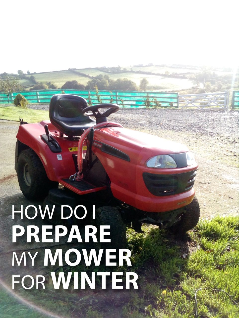 Top advice for getting your mower through the winter.