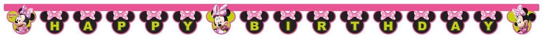 Pinkki Minni- syntymäpäiväbanderolli