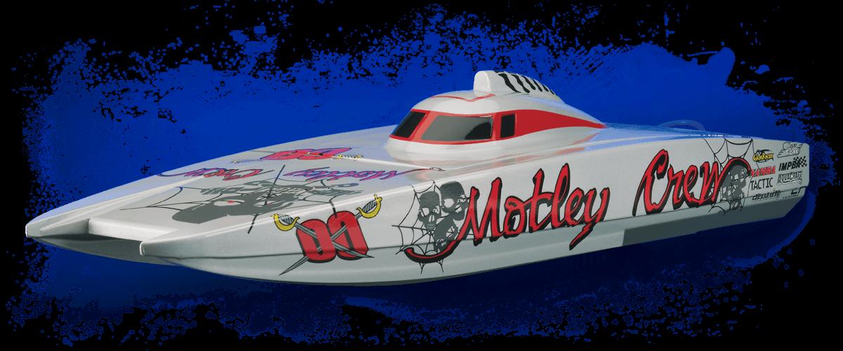 Aquacraft Models Motley Crew Boat Redlineremotecontrol Com Rc Boats Catamaran Boat