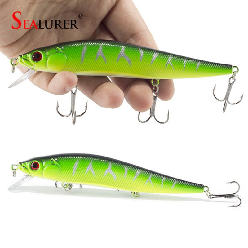 1PCS Topwater Wobblers Fishing Lure Minnow Hard Bait Pesca 3 Fish Hooks 23g