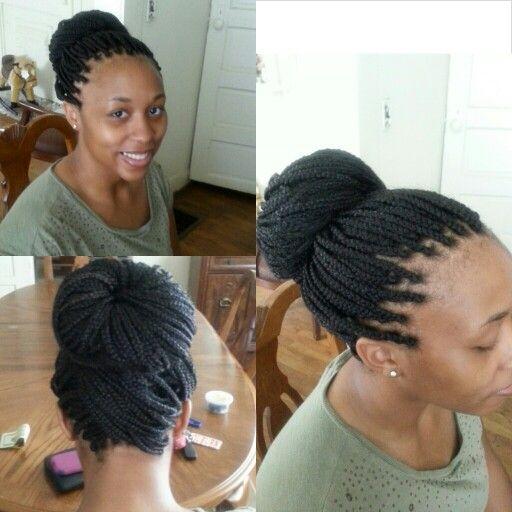 long box braids into a bun beauty pinterest afro