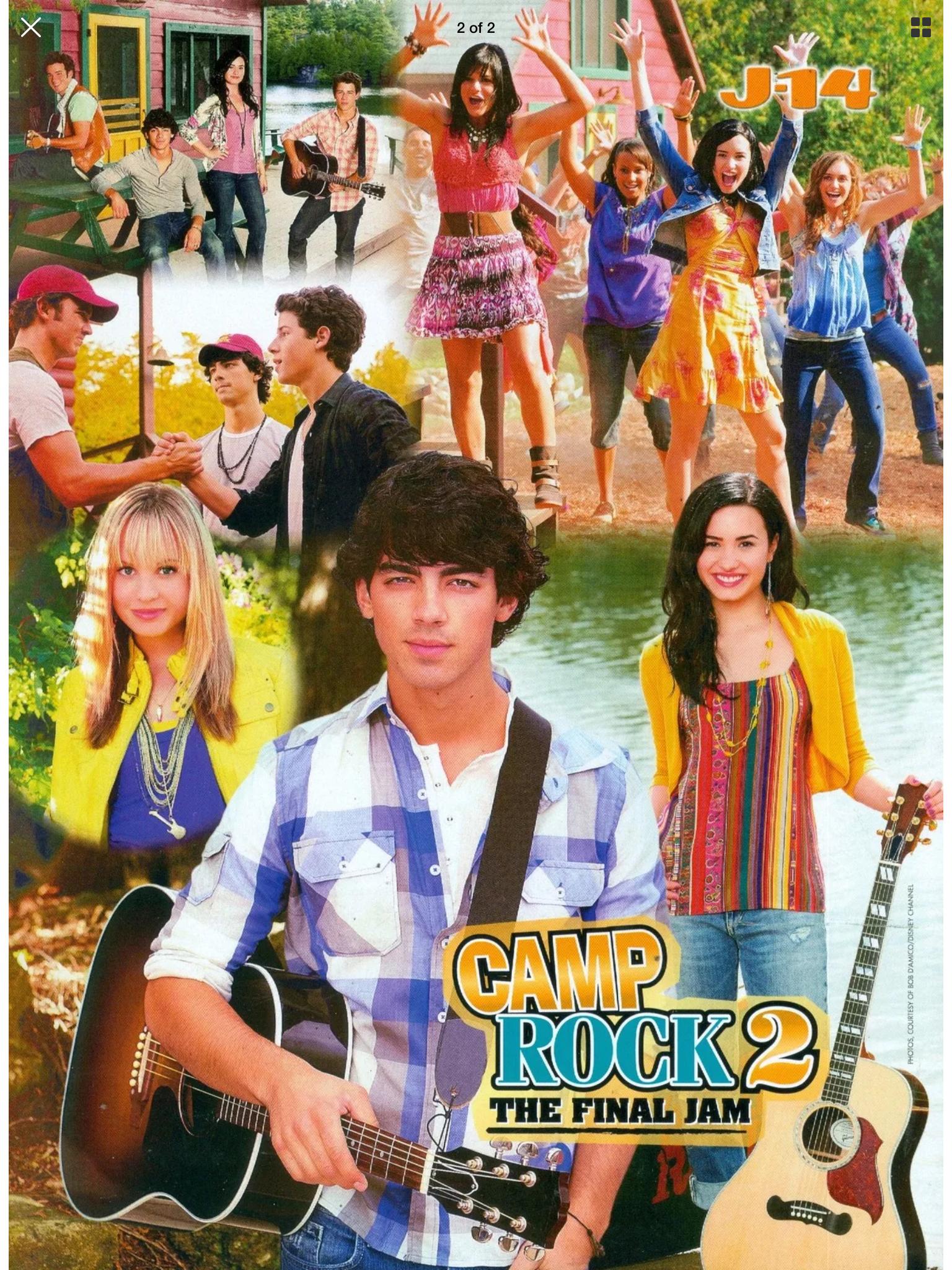 Camp Rock 2 The Final Jam J 14 Demi Lovato Jonas Brothers Camp Rock Jonas Brothers Demi Lovato