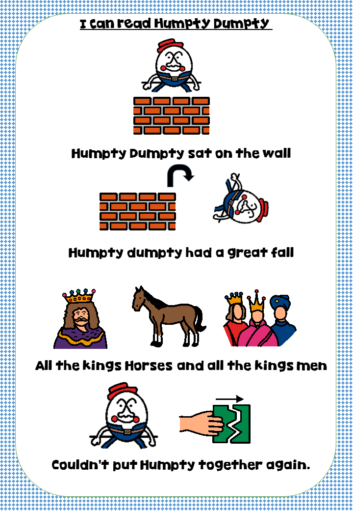 Humpty Dumpty Rhyme | Pinterest | Humpty dumpty, English rhymes and ...