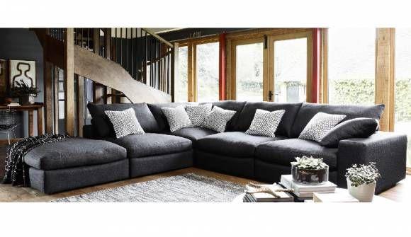 Haymarket Extra Deep Corner In Coco Plain Noir A Deep Sofa Extra Large Corner Sofas Corner Sofa