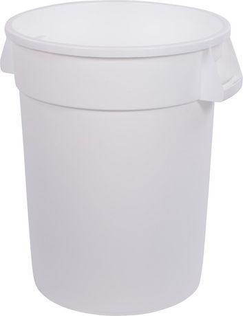 Best Carlisle Bronco Round Waste Bin Trash Container White 400 x 300