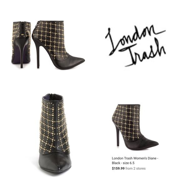 Studded Bootie Heel New without tags...never worn London Trash Shoes Ankle Boots & Booties