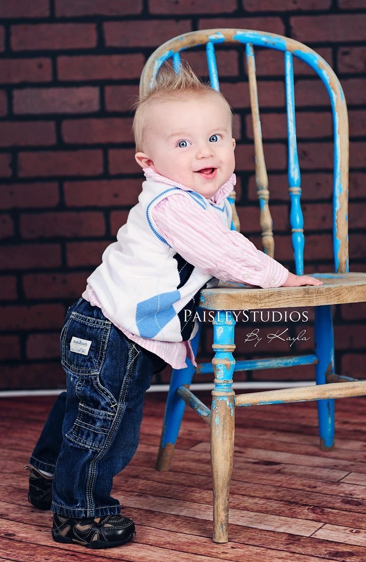 6 month old...stand near chair.   Photography ~ Children ...
