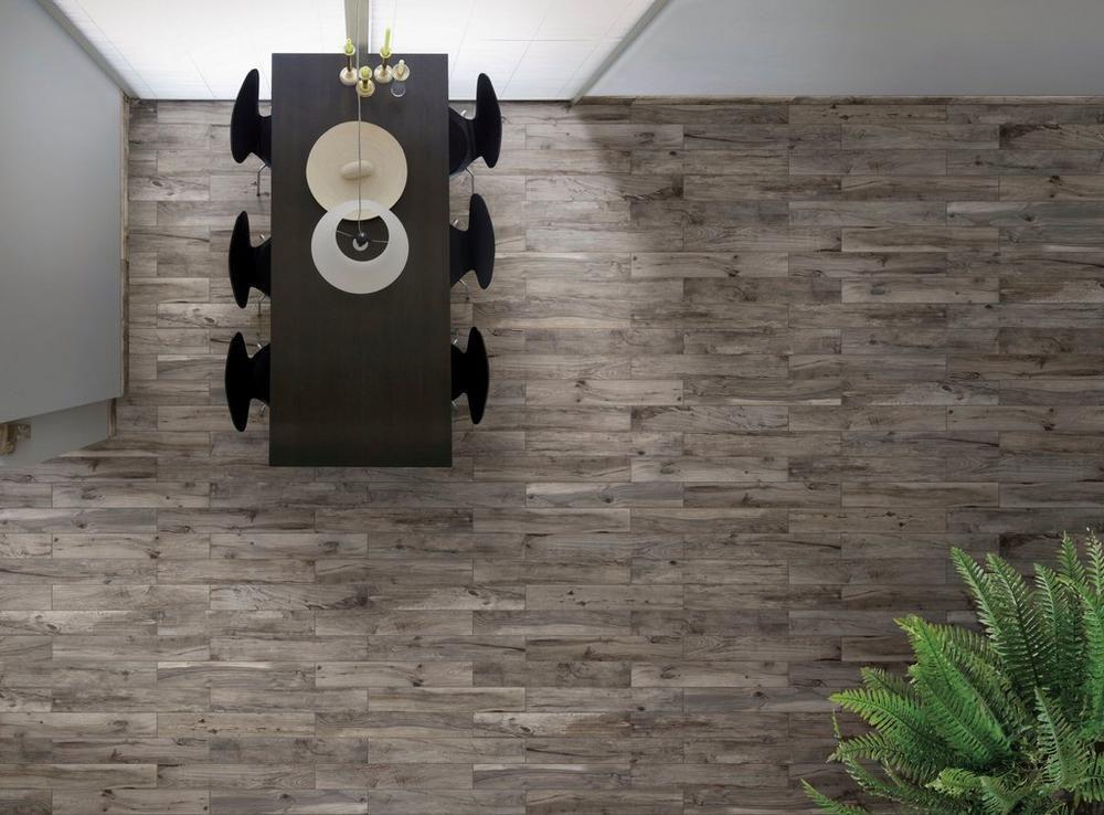 Soft Greige Wood Plank Porcelain Tile 6in X 40in 100105915