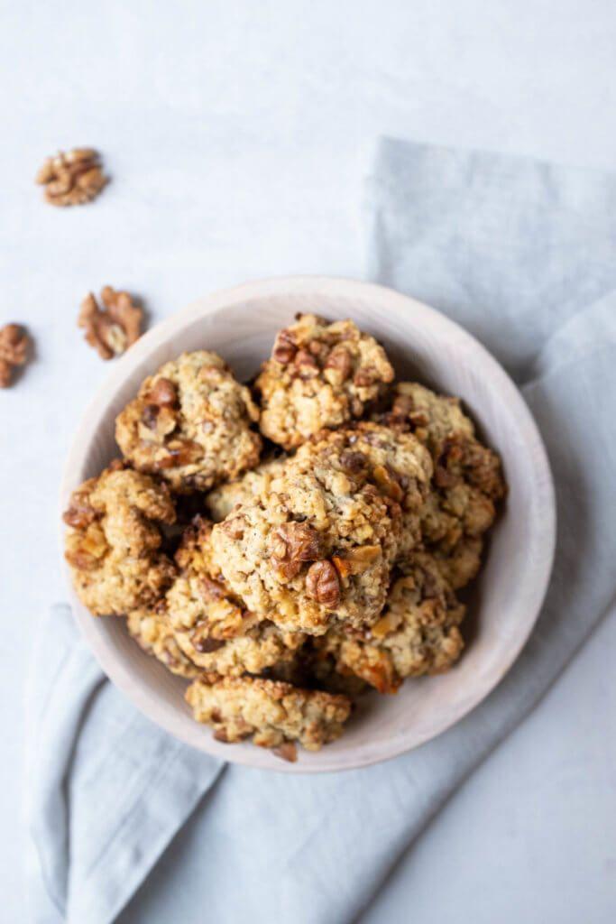 Einfache Walnuss-Haferflocken-Kekse