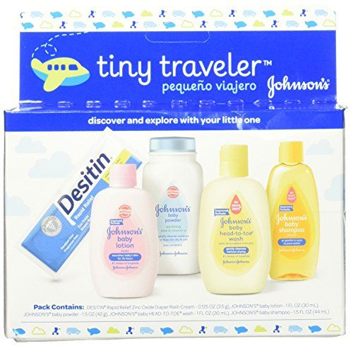Johnson S Tiny Traveler Baby Bath And Baby Skin Care Products Travel Gift Set 5 Items Pack Of 3 For Price Pro Baby Skin Care Baby Gift Sets Baby Lotion