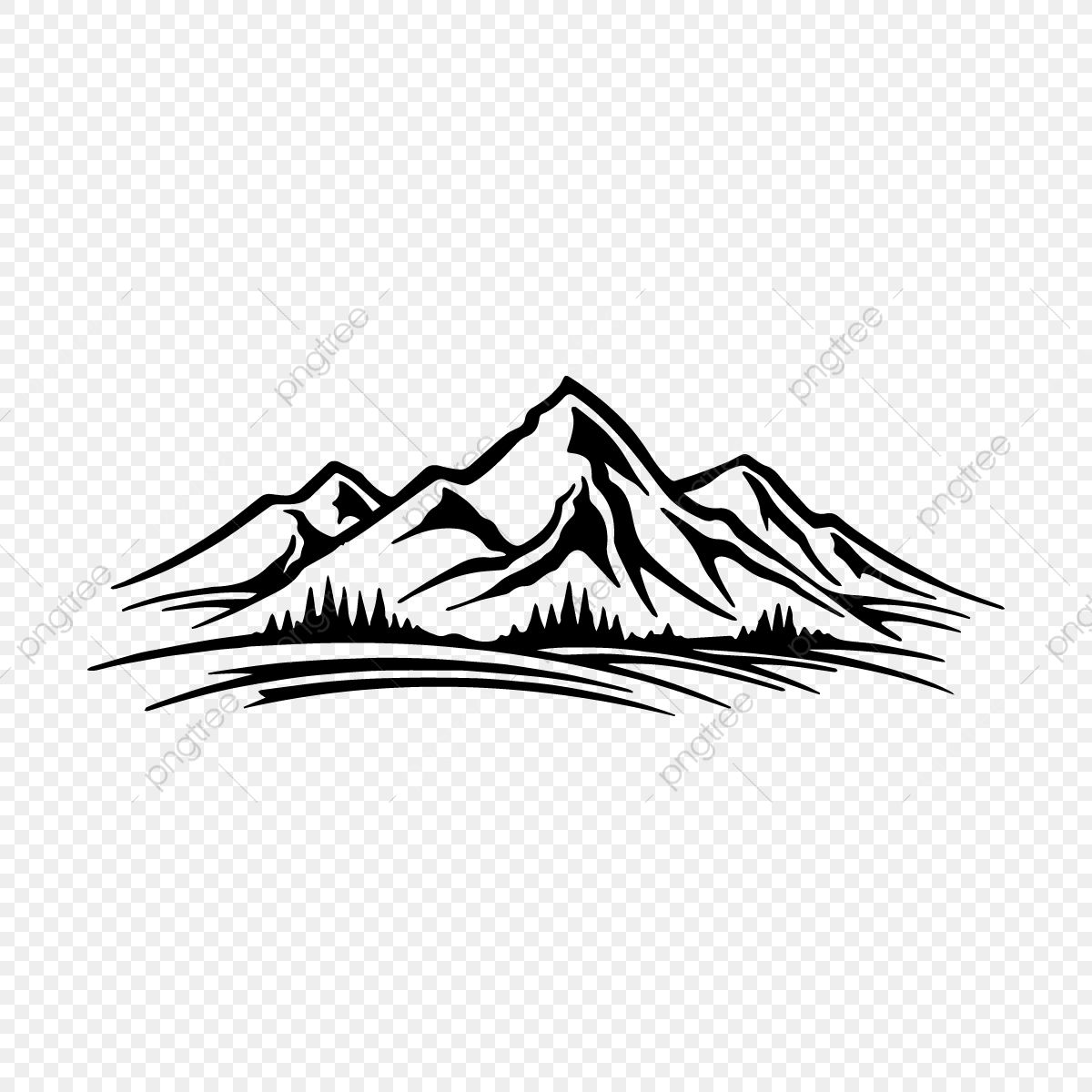 Natural Hills And Mountains Hill Clipart Mountain Hills Png And Vector With Transparent Background For Free Download Nature Logo Design Tattoo Coloring Book Mountain Tattoo