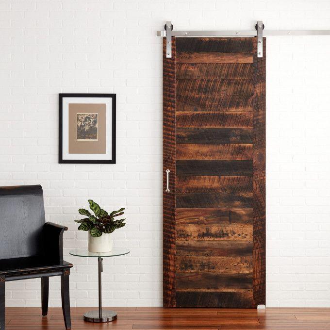 Apollo Reclaimed Wood Barn Door In Black
