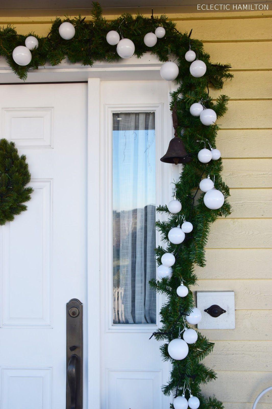Haustürdeko - Weihnachten auf meiner Veranda