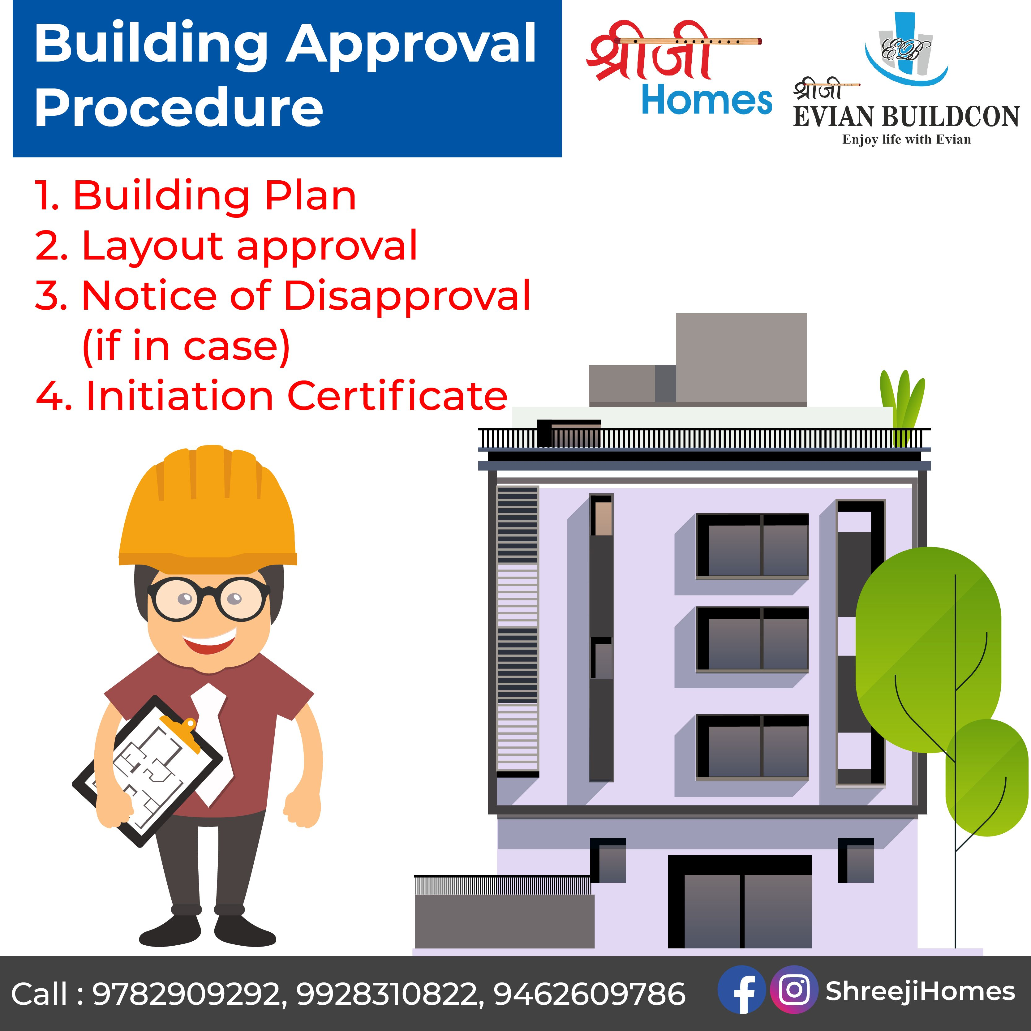 Building Approval Procedure 1 Building Plan 2 Layout Approval 3 Notice Of Disapproval If In Case 4 Initiation Cer Building Plan How To Plan Enjoy Life