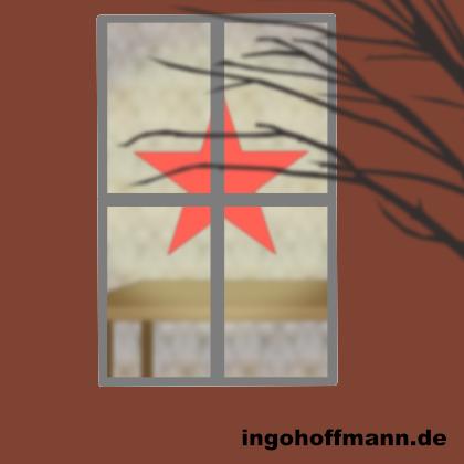 Fenster mit Weihnachtsstern mit Moho 12 animiert (früher Anime Studio). Anleitung zum nachzeichnen und animieren im Blog-Post!