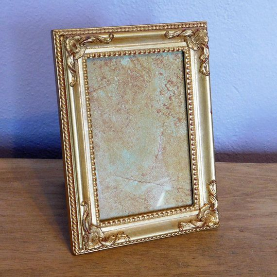 vintage hollywood regency gold painted picture frame burnes of boston frame 5 x