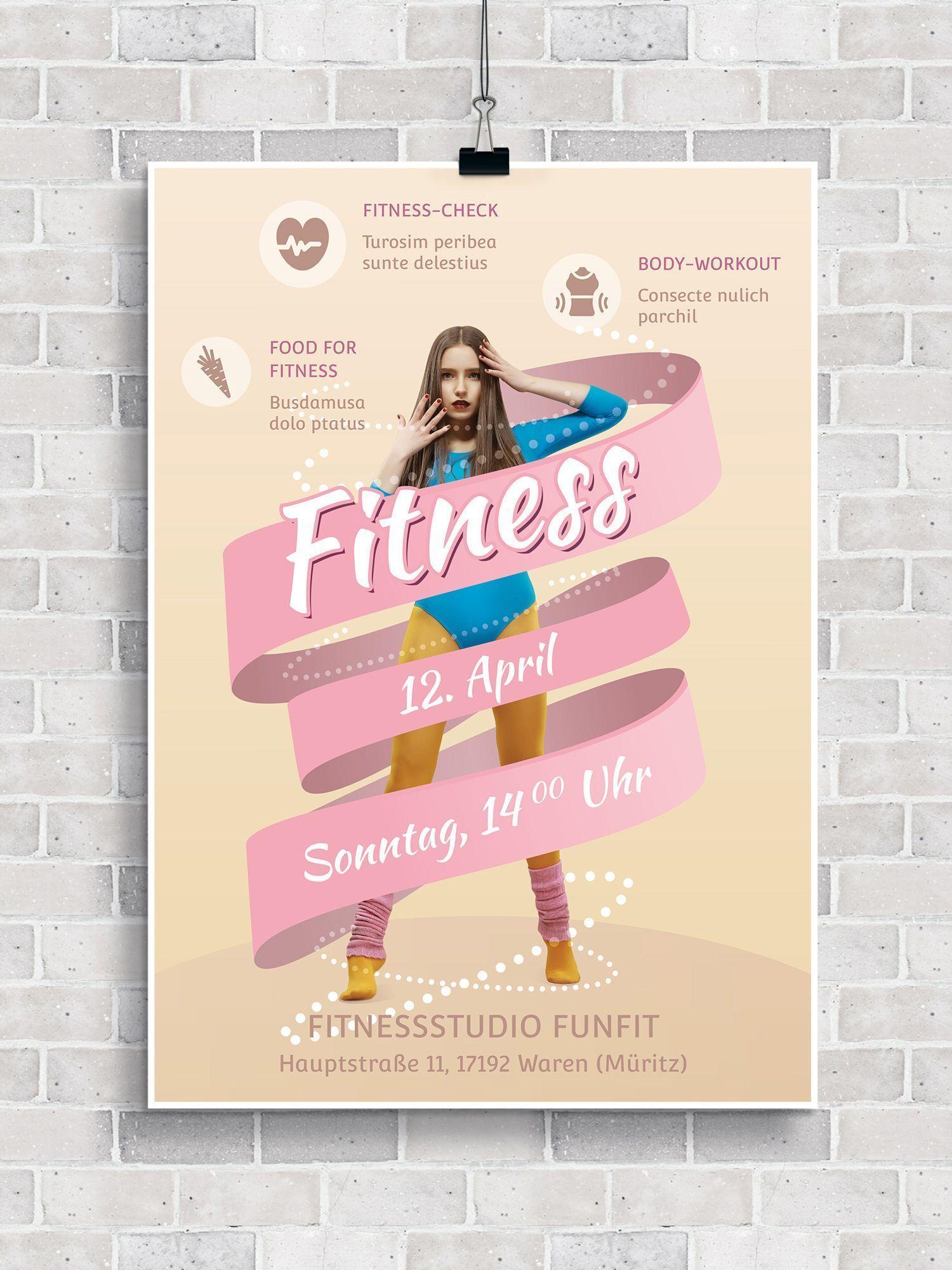 #fitness #fitnessstudio #fitnessstudio probetraining #Fitnessstudios #FlyerVorlagen #für #probetrain...