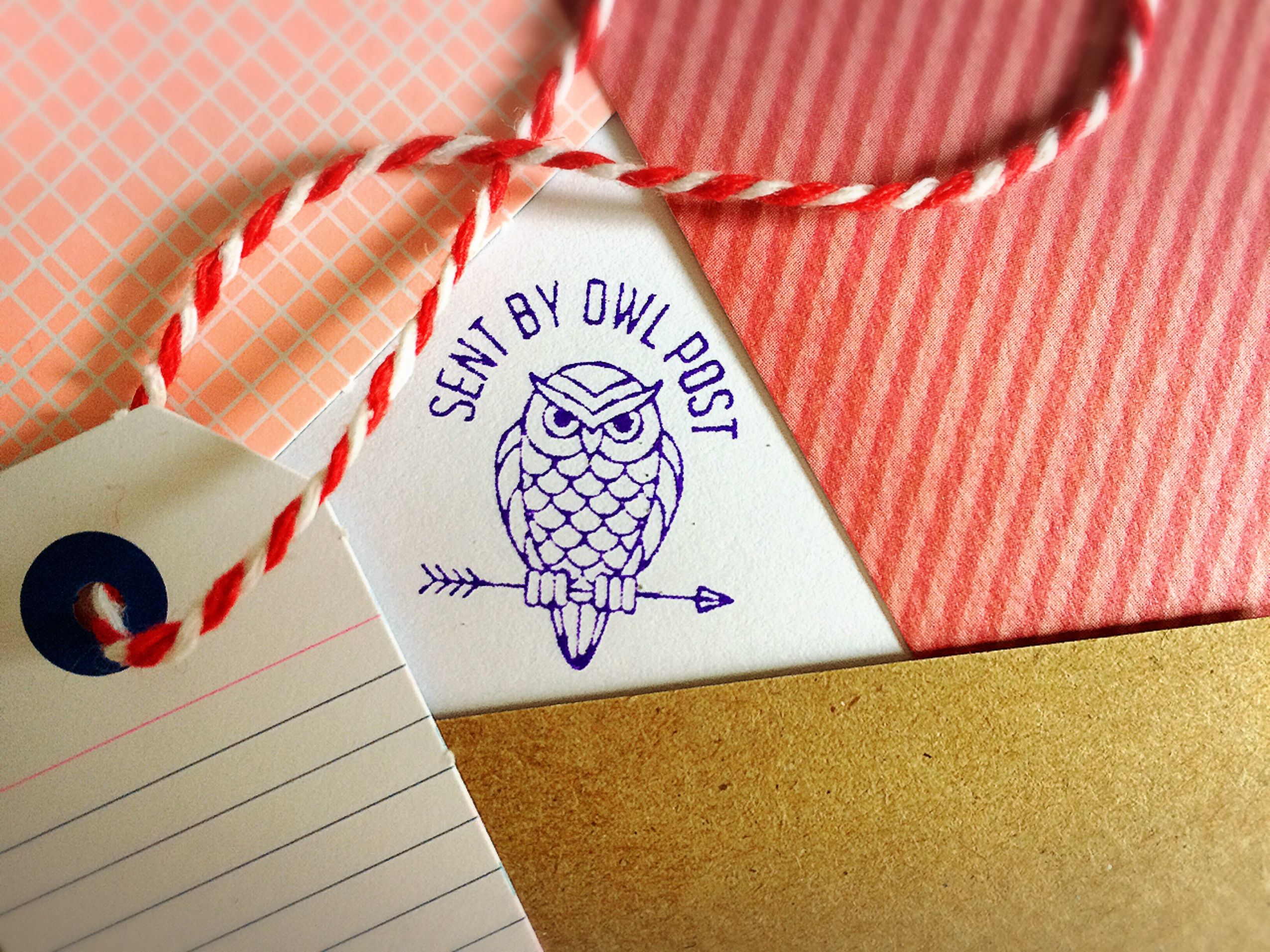 Owl Post Stamp Small Rubber Stamp Wizard Letters Owl Mail Harry Potter Inspired Hedwig Owl Post Mail Pen Pal Snailmail Happy Mail Post Stamp Pen Pal Letters Stamp