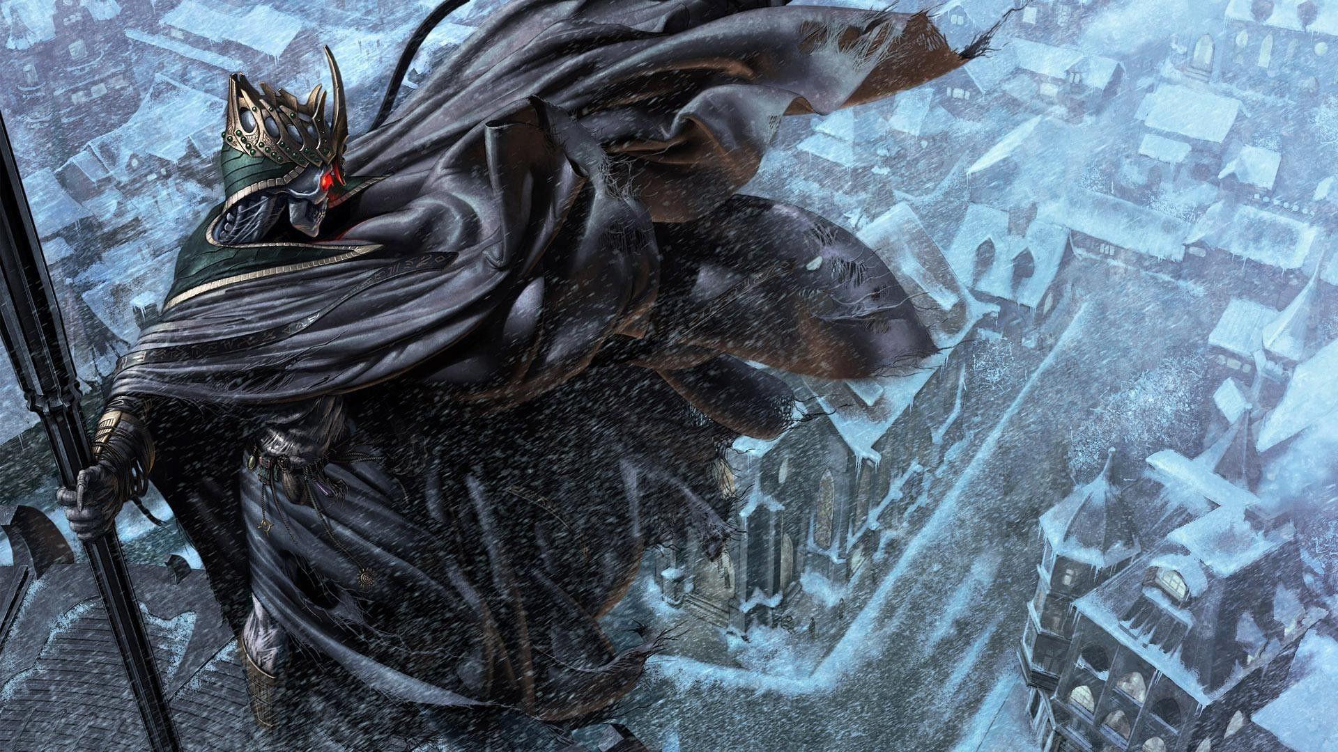Nice Death Judge Overlooking The Snowy City 5205 Fantasy Fantasy