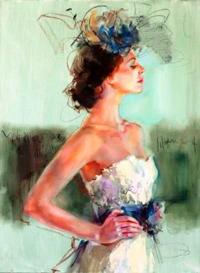 figure Limited edition Signed Print from original watercolor painting