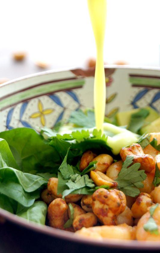 Pinch of Yum´s Schrimps und Avocado Salat mit Wasabi-Dressing
