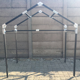 Small Steel Tube Shelter With Peak Roof Camping In 2019
