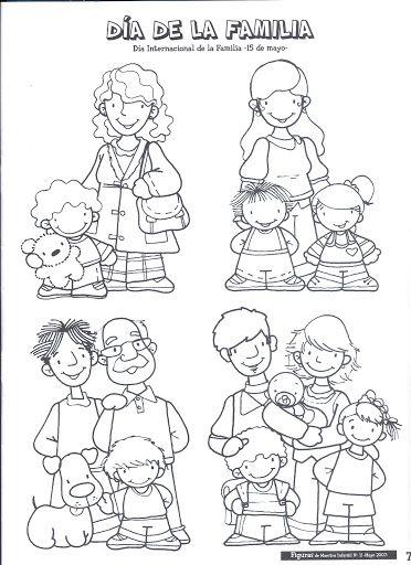 Pin De Rosa Luz Valer En Dibujos Imágenes De Familia Familia