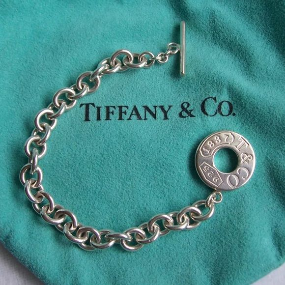 """7db0ffe7a Tiffany & Co. Silver """"1837"""" Toggle Bracelet This is a fantastic ..."""