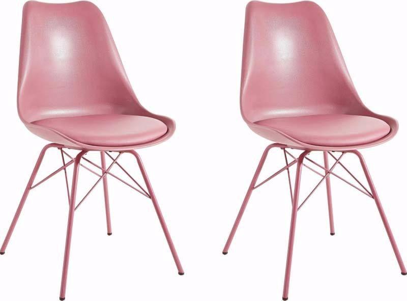 Lucinda+Spisestol+Rose+PU+med+rosa+ben+++-+Skjønn+spisestuestol+i+en ...