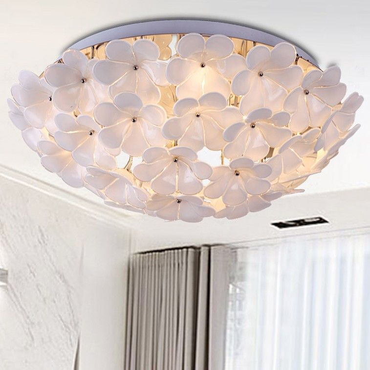 Florae Semicircular Blossom Flush-Mount Ceiling Light - Flush Mount - Ceiling Lights - Lighting