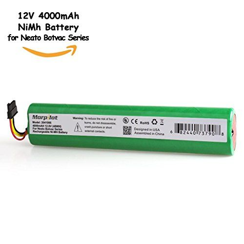 Morpilot 12v 4000mah Extended Nimh Battery Pack For Neato Botvac Series And Botvac D Series Robots Botvac 70e 75 80 Nimh Battery Nimh Robot Vacuum Cleaner
