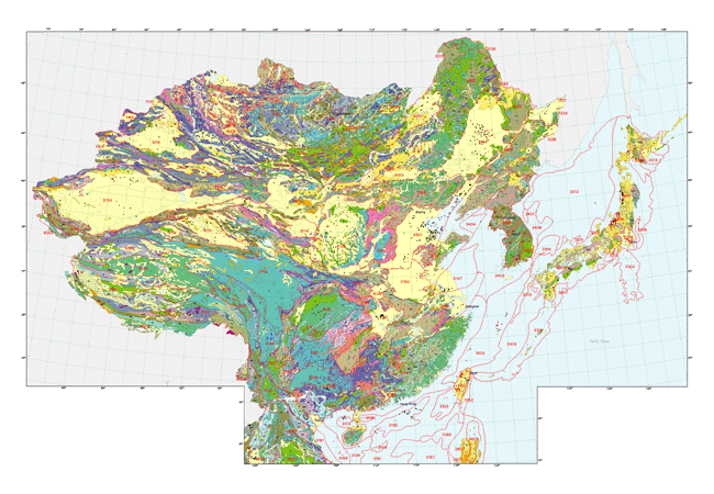Map Of China And Surrounding Areas.Usgs Minerals On Geology Pinterest Geology Minerals And Fossils
