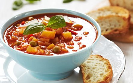 Rustic Fall Vegetable Soup Recipe via Hershey's Moderation Nation #Whatsfordinner