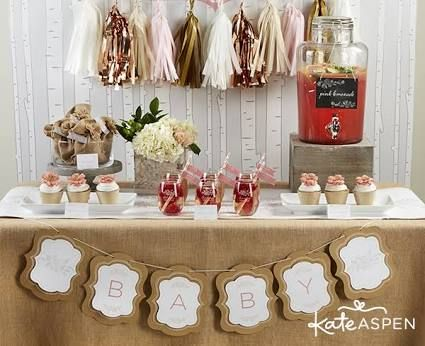 Rustic Baby Shower Food Table Rustic Baby Shower Decorations