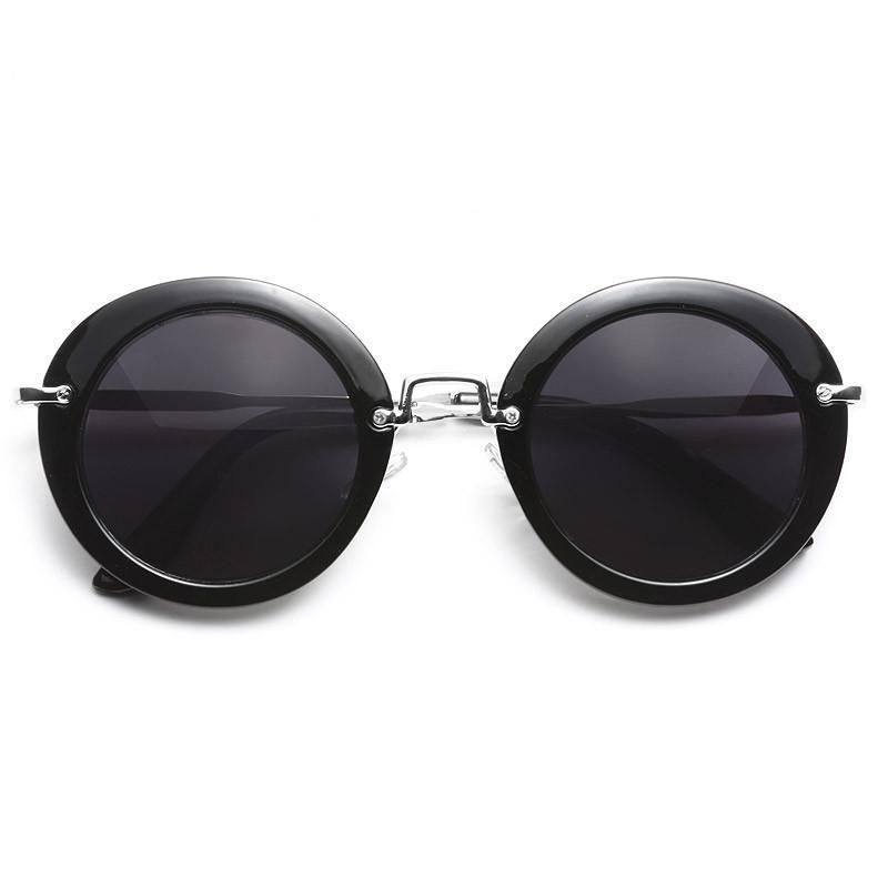 6b2c5f8daa Elizabeth Thick Frame Round Sunglasses  fashion  clothing  shoes   accessories  womensaccessories