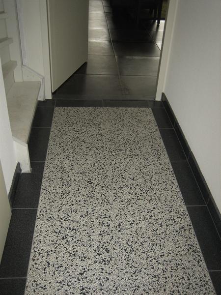 grote foto granito terrazzo tegel bijzonder met beton cire bouw, Badkamer